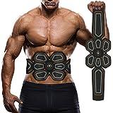 EMS Muskelstimulator, Waitiee Elektronische Bauch Muskeltraining Maschine, Smart Zuhause Muskeltraining Ab EMS Training Für Männer Frauen Gewicht Abnehmen (Black)