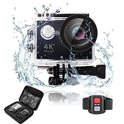Szsmart Action Sport Kamera Sports Camera Action Cam 4 K 2.0 Zoll WiFi 30 M LCD-Bildschirm 170 Ultra-Weitwinkel mit Montage Zubehör Kit für Radfahren Schwimmen Klettern Tauchen