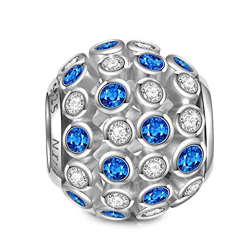 NINAQUEEN Charms anhänger für Pandora Armband Punkte Schmuck für Frauen Silber 925 Zirkonia Perlen Geschenk für Frauen Mädchen Geburtstagsgeschenk für Frauen Mutter Ehefrau Freundin