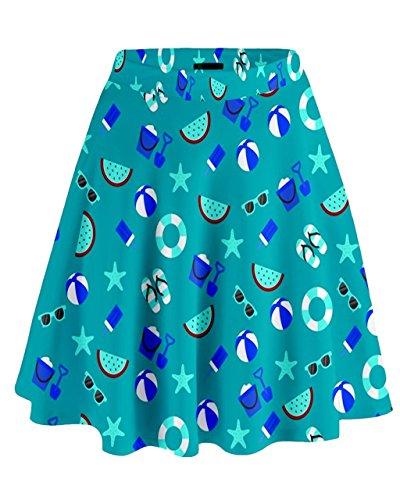 CowCow - Jupe - Femme Bleu Bleu Bleu
