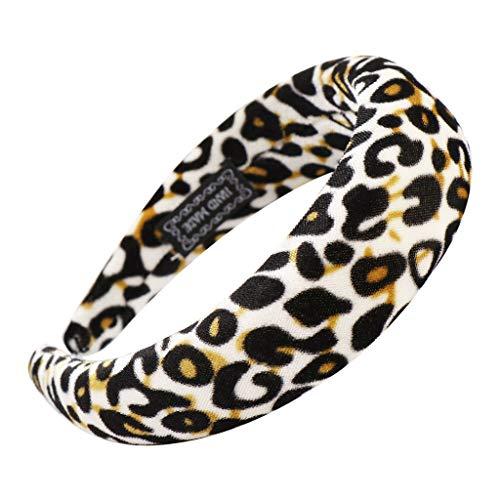 Meilily_Hut 2019 Damen Leopard Haarbänder mit Schwamm Sport Yoga Sommer Böhmen Haarband Frauen Dick Stirnband Haarschmuck Mädchen Haar Kopfband Make-up Headband Frühling Party Reisen Kopftuch -
