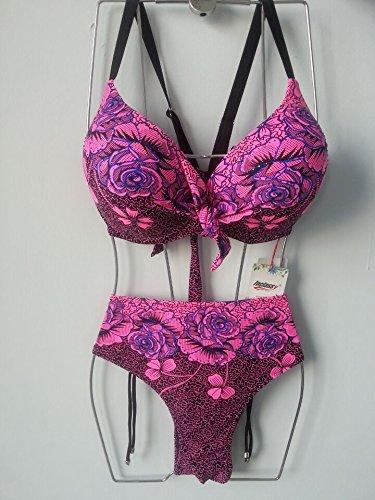 Mme summer maillot de grande planche de timbres de l'ouest percer deux bandeau Bikini-YU&XIN Pink