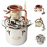 New 8 GAL 30 litri in rame alcool vino Moonshine Ethanol still Spirits boiler acqua brandy birra Distillatore kit