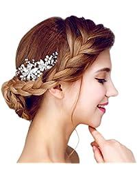Amazones Novias Accesorios Pelo Joyeria - Adornos-de-novia-para-el-cabello