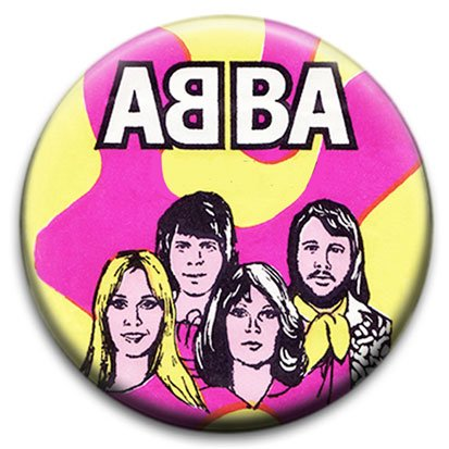 Abba Small Retro Pin Badge.