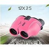 wysm HD de alta potencia binoculares no infrarrojos portátiles bolsillo mini juguetes de los niños de color rosa