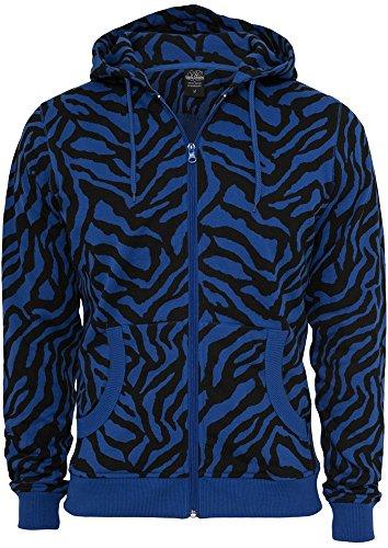 Urban Classics Zebra Zip Hoody Blu/Nero