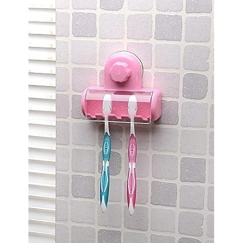 Potente aspiratore Portaspazzolini/supporto per lo spazzolino da denti con ventosa , la molla verde prato