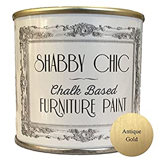 Möbelfarbe, für Möbel im Shabby-Chic-Stil, Farbe: Antique Gold/Antikgold 250ml