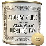 Shabby Chic Furniture Paint - Pintura tipo tiza para muebles para crear un estilo envejecido, color oro antiguo Contenido: 125 ml.