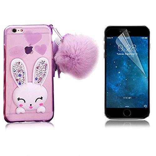 iPhone 6 Plus Cover, Bonice iPhone 6S Plus Custodia (5.5), Ultra Slim Thin Morbido TPU Clear Trasparente Animale Cat Case model 3