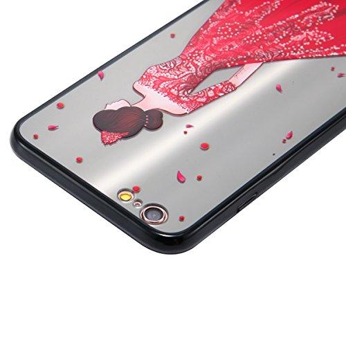 Coque pour iPhone 6 Plus,iPhone 6S Plus étui, ETSUE Solidité Housse en PC Case pour iPhone 6 Plus/6S Plus, Ultra-mince Noir Fond avec Belle Joli Fille Beauté Coloré Motif de Relief, Girl Femme Coque e Joli Fille 2#