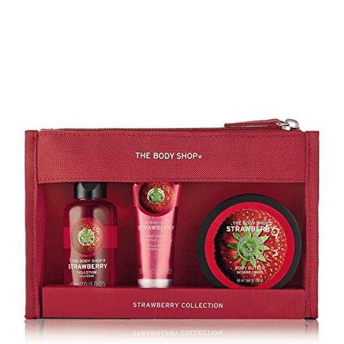 Les Sacs Body Shop fête Beauté -Fraise-Mangue-Shea-Noix de coco/The Body Shop Festive Beauty Bags - Argan Oil-Strawberry-Mango-Shea-Coconut (Fraise)