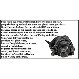 Black Labrador dog bereavement pet loss sympathy memorial Flexible Fridge Magnet - Waiting at the Door