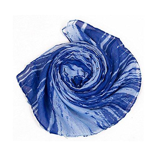 Leisial Écharpe d'été pour Femmes ou Filles Foulard Mince Écharpe 180cm x 110cm H style