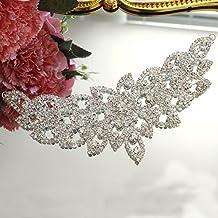 Vestido de boda de diamante brillante, cabeza de cintura, joyería decorativa, accesorios de
