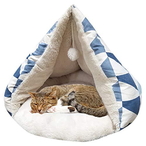 Legendog Haustier Bett Ultra Weicher Schlaf Plüsch Katzen Winterbett Hundebett Welpen Kissen -