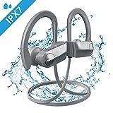 Mpow D7 Bluetooth Kopfhörer Sport, IPX7 Wasserdichte Sportkopfhörer Kabellos, Rich Bass/ 10-12 Stunden Spielzeit/Bluetooth 4.1, In Ear Kopfhörer Wirless mit Mikrofon für Laufen, Joggen usw