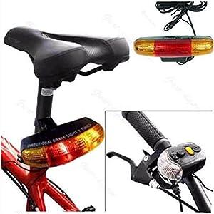 hunpta 7LED para bicicleta intermitente freno direccional lámpara de luz cuerno de sonido 8, negro