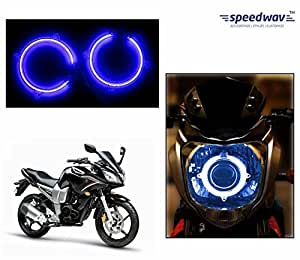 Speedwav Bike Halo CCFL Tube Angel Eyes Light BLUE-Yamaha Fazer