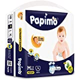 Papimo Baby Pants Diapers with Aloe Vera, Medium, 76 Count