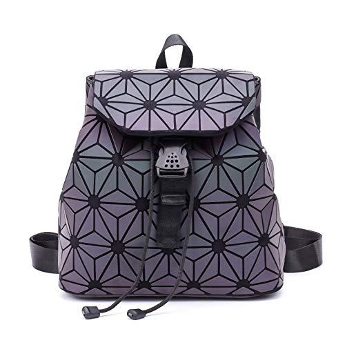 Geometrisch Rucksack Fashion Rucksäcke Damen Leuchtend Taschen Holographisch Reflektierend Schultertasche Schule Rucksack NO.6