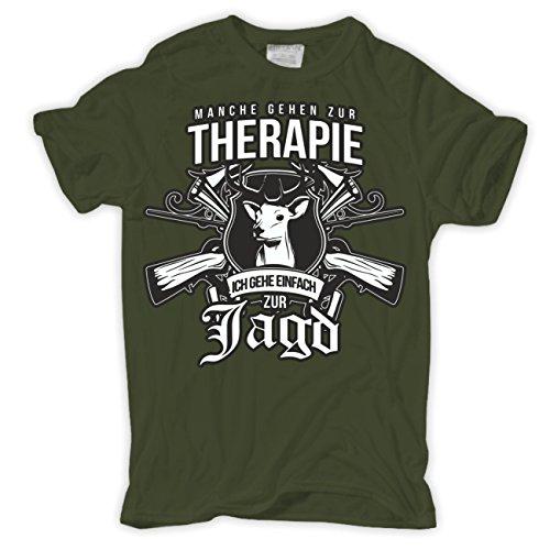 Männer und Herren T-Shirt Manche Gehen zur Therapie ICH ZUR Jagd Größe S - 8XL
