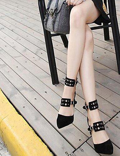 WSS 2016 Chaussures Femme-Bureau & Travail / Habillé / Décontracté / Soirée & Evénement-Noir-Talon Aiguille-Talons-Talons-Synthétique black-us8.5 / eu39 / uk6.5 / cn40