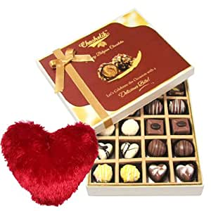 Chocholik 20Pc Adorable Treat Of Dark And Milk Chocolate Box With Heart Pillow Valentine Day Gifts