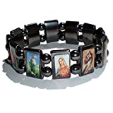 Bracelet des Saints - Hématite Magnétique/Bijou en Pierres Naturelles