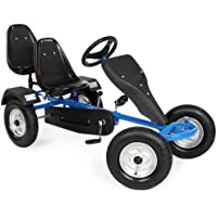 TecTake Go-kart gokart go Kart pedal 2 seater outdoor toy racing fun cart -different colours-