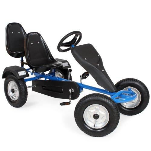 TecTake Gokart Tretauto Go Kart Tretfahrzeug blau