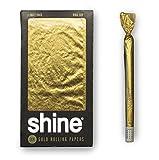 Shine 24K Cartine d'oro per sigarette Confezione da 1 foglio King size - 1x carta d'oro - Foglie d'oro di alta qualità