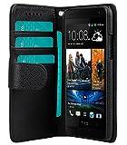 Melkco 4895158698201 Mappen-Buch Typ PU Kunstleder Tasche für HTC One Mini M4 schwarz