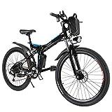 Speedrid Mountain Bike Pieghevole per Bici elettrica, Pneumatici 26/20 Ebike Bici elettrica per Bici...