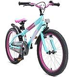 BIKESTAR Premium Sicherheits Kinderfahrrad 20 Zoll für Mädchen und Jungen ab 6 Jahre ★ 20er Kinderrad Mountainbike ★ Fahrrad für Kinder Berry & Türkis