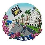 MUYU Magnet 3D Cannes Francia Frigorifero Travel Souvenir Gift Home & Kitchen Decor Magnetica Sticker Cannes Frigorifero Magnete