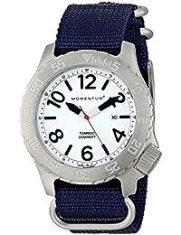 Momentum - 1M-DV74L7U - Montre Homme - Quartz Analogique - Aiguilles lumineuses - Bracelet Nylon Bleu
