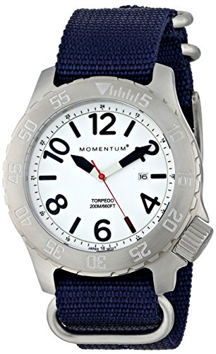 Momentum Men s 1M-DV74L7U Torpedo Stainless Steel Watch