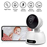 Wireless IP Camera, ibell HD Baby Pet Monitor, Wifi Security Cameras with Night
