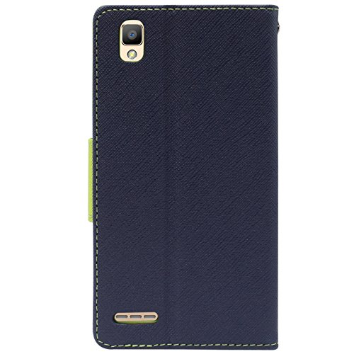 DMG Premium Fancy Diary Wallet Flip Cover Case for Oppo F1 (Pebble Blue)