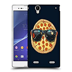 Snoogg Pizza Glares Designer Protective Back Case Cover For SONY XPERIA T2 ULTRA