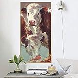 Wandbilder Poster und Kunstdrucke Wandbilder Leinwandbilder Abstrakt Kühe grasen Bilder für Wohnzimmer Cuadros Dekor Kein Rahmen gemalt Kein Rahmen 50x100cm