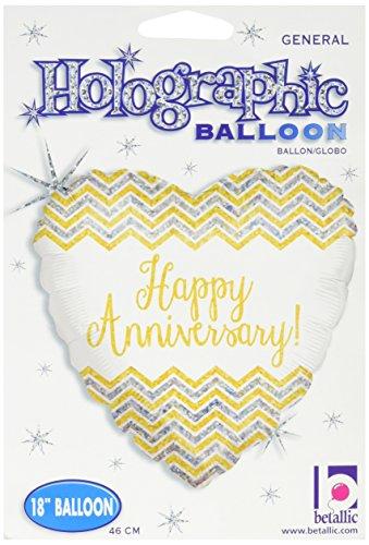 restag Holografische Ballon, 45,7cm Multicolor ()