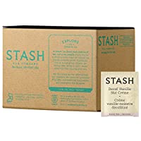 Stash Tea Decaf Vanilla Nut Creme Black Tea, 100 Count Box in Foil