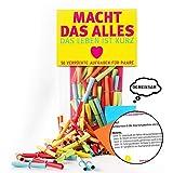 Monsterzeug Verlosungsspiel mit 50 Aufgaben für Paare, Papierlose für Verliebte, Lostüte für Pärchen, Textlose mit Challenges