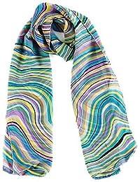 Retro Swirl Design Womens Chiffon Scarf - In Various Colours
