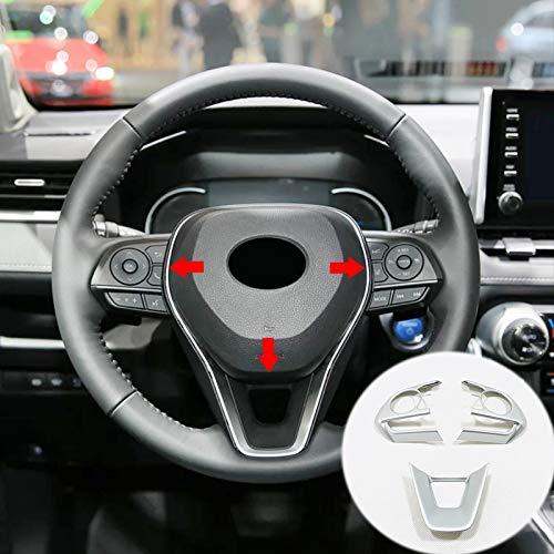 FSXTLLL Autoadesivo Opaco ABS 3 Pezzi coprivolante coprisedile Telaio ABS, per Toyota RAV4 RAV 4 2019 2020