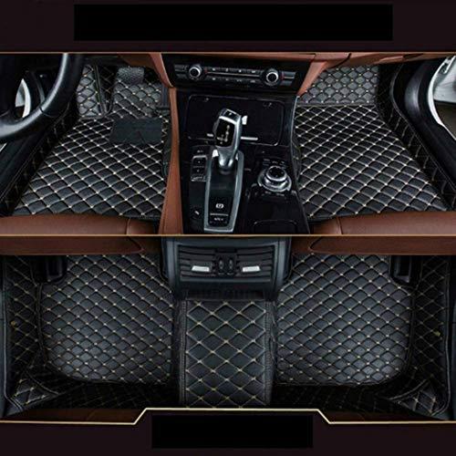 Preisvergleich Produktbild 8X-SPEED Auto-Fußmatten Leder Bodenmatte für B M W X5 E70 2008-2013,  3D-Volldeckung Wasserdichte Anti Rutsch Anti- Kratz Schwarzbeige Linie Automatten