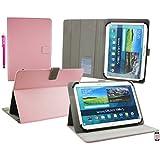 Emartbuy Wolder miTab Pro + 10.1 Pulgadas HD Tablet PC Universal ( 10 - 11 Pulgadas ) Baby Rosa Ángulo Múltiples Ejecutivo Folio Funda Carcasa Wallet Case Cover Con Ranuras Para Tarjetas+ Lápiz Óptico
